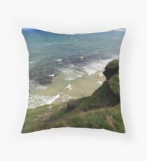 View form the Costal Path Throw Pillow
