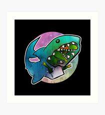I'd rather be a shark Art Print