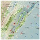Shenandoah River Watershed Map by kmusser