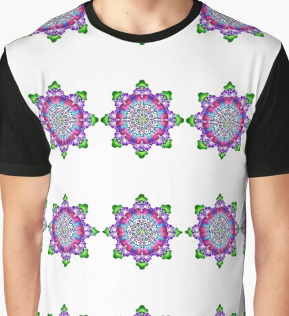 Mandala : Flower Garden Graphic T-Shirt