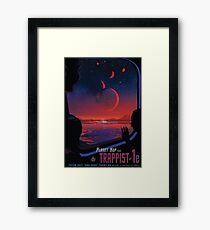 Trappist 1 -- Space Travel Poster Framed Print