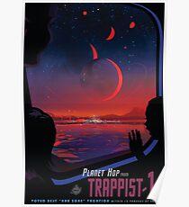 Trappist 1 - Weltraumreiseplakat Poster