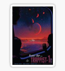 Trappist 1 -- Space Travel Poster Sticker