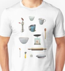 Love to Bake! - light blue background Unisex T-Shirt