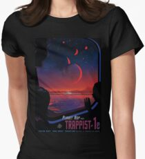 Trappist 1 -- Space Travel Poster Womens Fitted T-Shirt