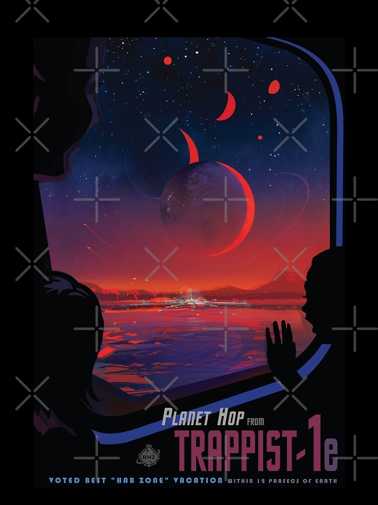 Trappist 1 -- Space Travel Poster by whitneykayc