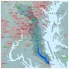 Patuxent River Watershed Map by kmusser