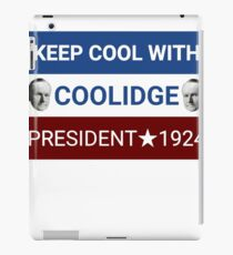 Calvin Coolidge Campaign Logo iPad Case/Skin