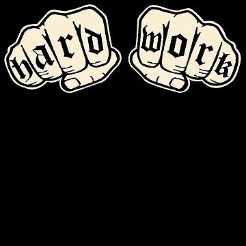 Hard Work Knuckle Tattoos  by SaintSinnerShop