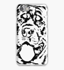 Rottweiler in Black and White iPhone Case/Skin