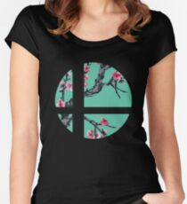 Super Smash Bros. Flora 2 Women's Fitted Scoop T-Shirt