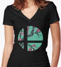 Super Smash Bros. Flora 2 Women's Fitted V-Neck T-Shirt
