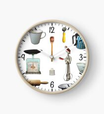 Love to Bake! - white background Clock