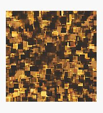 geometric square pattern abstract in brown and black Photographic Print