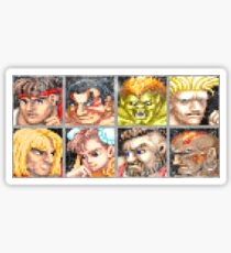 Street Fighter 2 - The Original World Warriors - Dirty Sticker