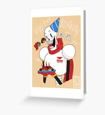 Undertale Papyrus' Birthday  Greeting Card