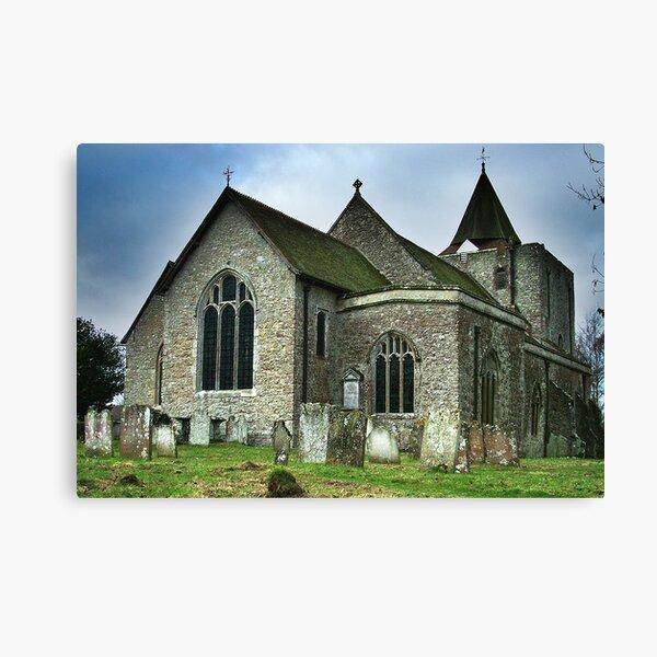 St Nicholas Church Leeds Kent Canvas Print