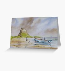 Holy Island - Northumberland Greeting Card