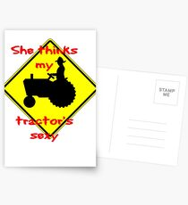 She thinks my Tractors Sexy Postcards