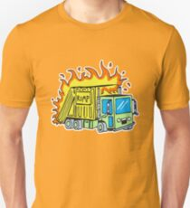 Garbage Truck on Fire Unisex T-Shirt