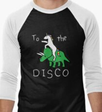 To The Disco (white text) Unicorn Riding Triceratops T-Shirt