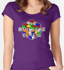 The Struggle is Real! Women's Fitted Scoop T-Shirt