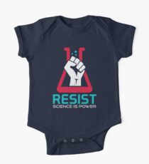 March For Science - RESIST - Political Protest Short Sleeve Baby One-Piece