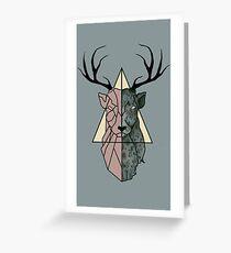 geometric patronus Greeting Card