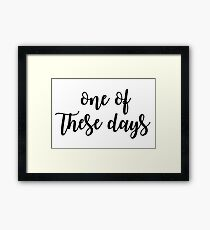 These Days - Foo fighters Framed Print