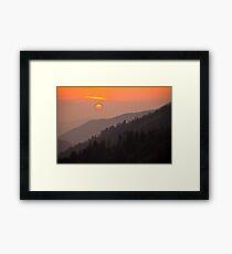 A Smoky Mountain Sunset 7:44pm Framed Print