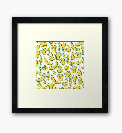 All the foods! Framed Print