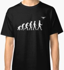 Evolution of Man - Drone Pilot Edition White Classic T-Shirt
