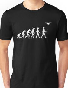Evolution of Man - Drone Pilot Edition White Unisex T-Shirt