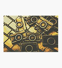 Vintage film camera scene Photographic Print