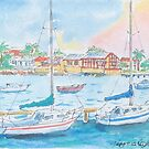 Williamstown Sailing Club by Virginia  Coghill