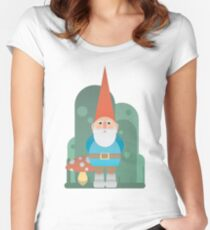 Gnome with mushroom Women's Fitted Scoop T-Shirt