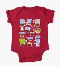 Espresso Coffee Drinks Guide One Piece - Short Sleeve