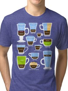 Espresso Coffee Drinks Guide Tri-blend T-Shirt