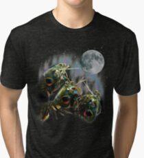 Mantis Shrimps Howling at the Full Moon Tri-blend T-Shirt