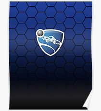 Rocket League Hexed Blue Poster