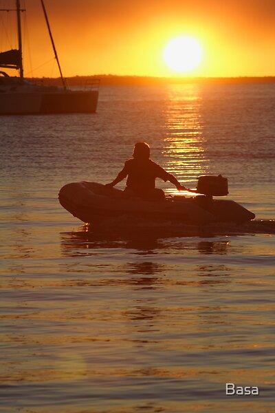 Fraser Island Sunset. by Basa