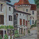 Watercolour         Perigord, France                               by Irene  Burdell