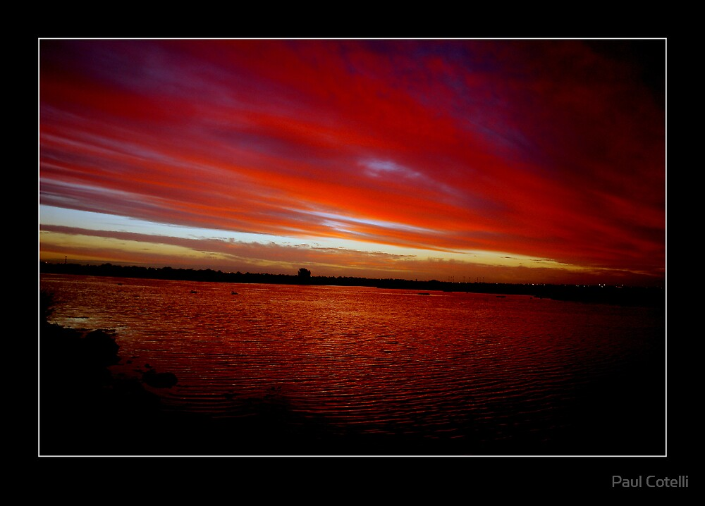 The Sky is on Fire by Paul Cotelli
