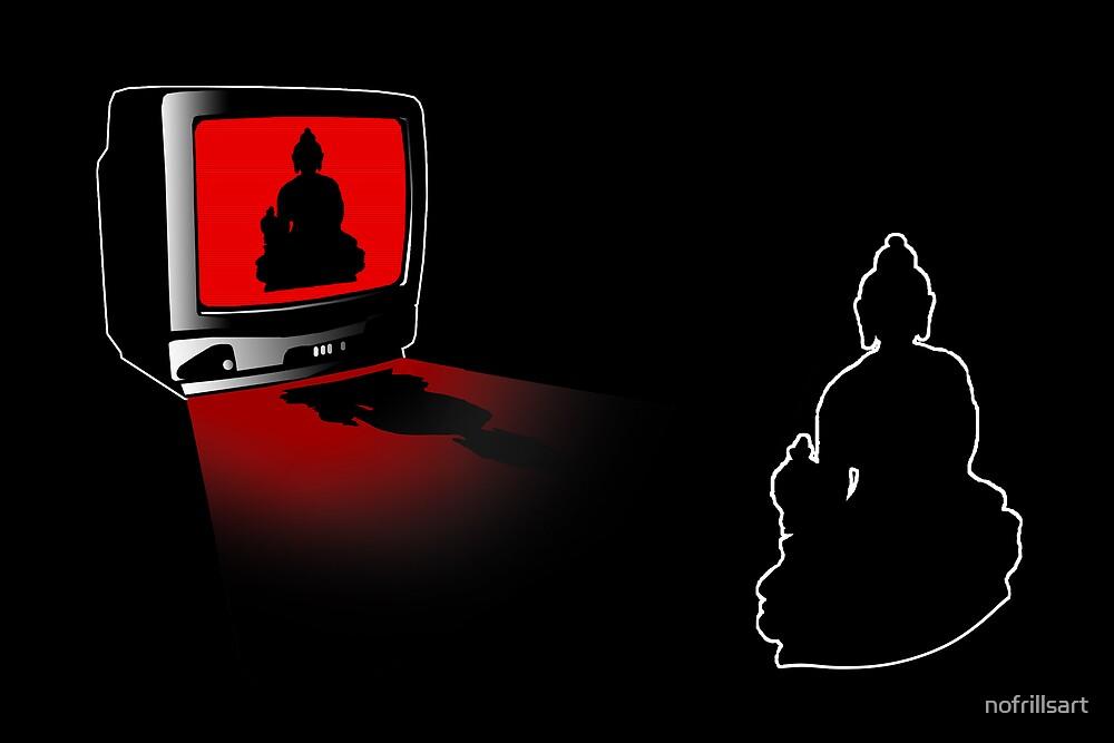 Idiot Box, False Idol or just Absurd? (Techno Buddha vs Idol TV) by nofrillsart