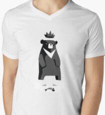 Moon Bear Men's V-Neck T-Shirt