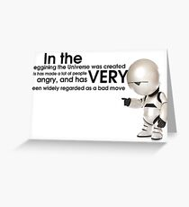 Universe Creation - Hitchhiker's Guide to the Galaxy Greeting Card
