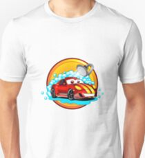 Funny cartoon Car wash auto cleaner  Unisex T-Shirt