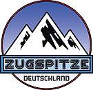 Ski ZUGSPITZE Deutschland Bayern Skiing Ski Mountain Art Germany by MyHandmadeSigns