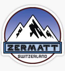 ZERMATT SWITZERLAND Mountain Skiing Ski Snowboard Snowboarding Sticker