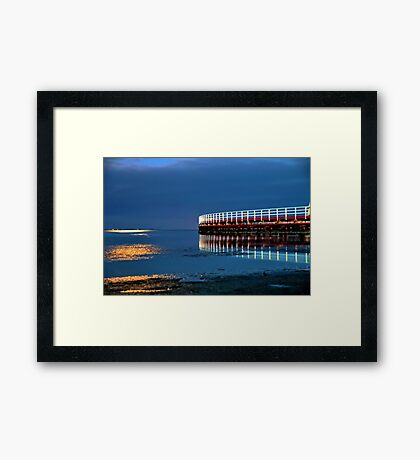 Reflections on Corio Bay. Framed Print